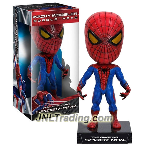 "Funko Year 2012 Marvel Movie Series ""The Amazing Spider-Man"" 6 Inch Tall Wacky Wobbler Bobble Hear Figure : SPIDER-MAN with Display Base"