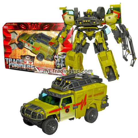 "Hasbro Year 2009 Transformers Movie Series 2 ""Revenge of the Fallen"" Voyager Class 8 Inch Tall Robot Action Figure - Autobot DESERT TRACKER RATCHET with Hidden Axe and Automorph Forearm Cannon (Vehicle Mode : Hummer H2 SUV)"