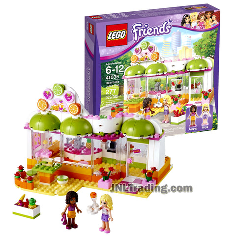 Friends Series Lego Year 2014 Set #41035 - HEARTLAKE JUICE BAR with Glass Windows, Counter with Blenders, Juice Squeezer, Sink and Cash Register Plus: Andrea and Naya Minifigures (Total Pieces: 277)