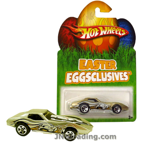 Hot Wheels Year 2007 Easter Eggsclusives Series 1:64 Scale Die Cast Car Set - Gold Color Classic Sports Coupe CORVETTE STING RAY N1136
