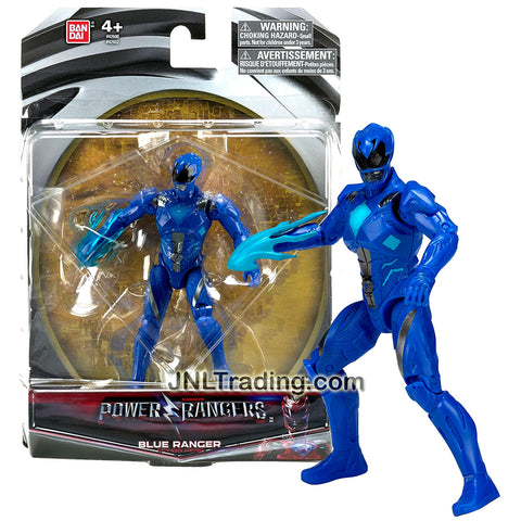 Bandai Year 2016 Saban's Power Rangers Movie Series 5 Inch Tall Action Figure - Action Hero BLUE RANGER with Blue Flame