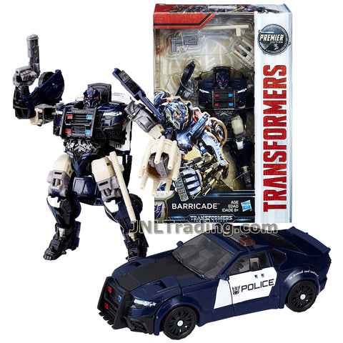Transformers Year 2016 The Last Knight Movie Premier Edition Series Deluxe Class 5-1/2 Inch Tall Figure - BARRICADE with Blaster and Baton (Vehicle: Police Cruiser)