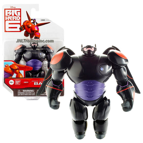 "Bandai Year 2015 Disney ""Big Hero 6"" Movie Series 4-1/2 Inch Tall Action Figure - Black Suit STEALTH BAYMAX with 2 Removable Wings"