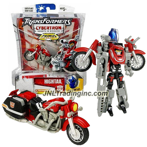 Hasbro Year 2006 Transformers Cybertron Series Scout Class 4 Inch Tall Robot Action Figure - Autobot HIGHTAIL with Pop Out Boost Engine and Grenade Rack, Exhaust Pipe that Change to Blaster Rifle and Earth Planet Cyber Key (Vehicle Mode: Motorcycle)