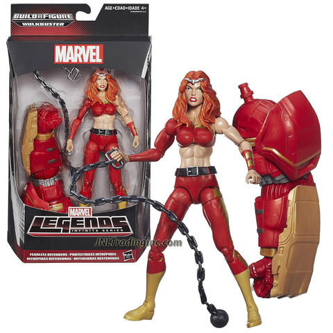 "Hasbro Year 2015 Marvel Legends Infinite Hulkbuster Series 6"" Tall Action Figure - Fearless Defenders THUNDRA with Linked Chain and Hulkbuster's Left Arm"