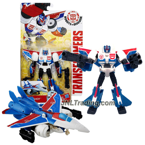 Hasbro Year 2016 Transformers Robots in Disguise Combiner Force Warriors Class 5-1/2 Inch Tall Figure - STORMSHOT with Blasters (Vehicle Mode: Jet)
