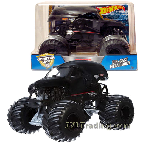 Hot Wheels Year 2017 Monster Jam 1:24 Scale Die Cast Metal Body Official Monster Truck Series - DOOM'S DAY CGD75 with Monster Tires, Working Suspension and 4 Wheel Steering