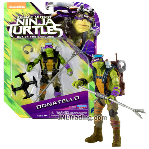 Year 2016 Teenage Mutant Ninja Turtles TMNT Movie Out of the Shadow Series 5 Inch Tall Figure - DONATELLO with Staff and Headphone