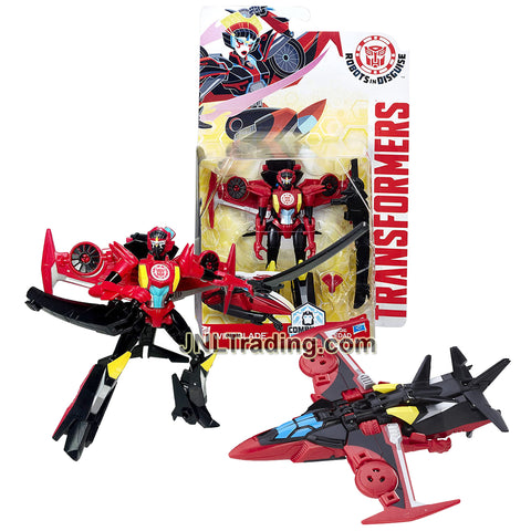 Year 2016 Transformers Robots in Disguise Warrior Class 5 Inch Tall Figure - Autobot WINDBLADE with Sword (Vehicle: VTOL Jet)