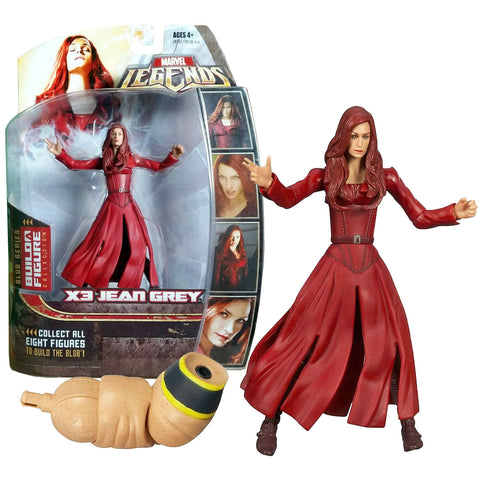 Hasbro Year 2006 Marvel Legends Blob Series 6 Inch Tall Action Figure - X3 JEAN GREY with Blob's Right Arm