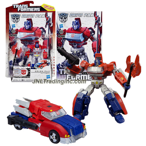 "Hasbro Year 2012 Transformers Generations ""Thrilling 30"" Series Deluxe Class 6 Inch Tall Robot Action Figure - Autobot ORION PAX with Battle Axe, Ion Blaster and Comic Book (Vehicle Mode: Rig Truck)"