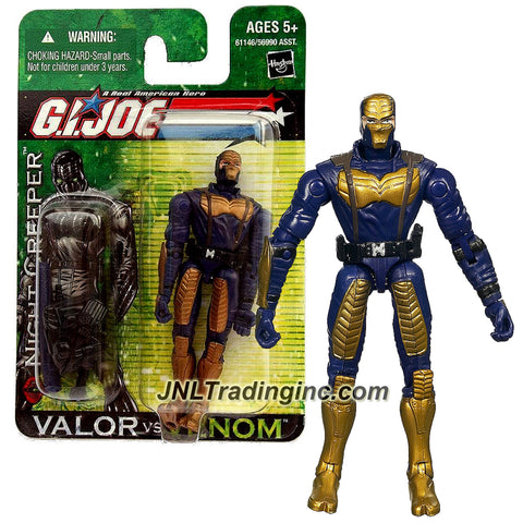 "Hasbro Year 2004 G.I. JOE ""Valor Vs. Venom"" Series 4 Inch Tall Action Figure - Cobra Ninja NIGHT CREEPER with Submachine Gun, Katana Sword with Sheath and Backpack"