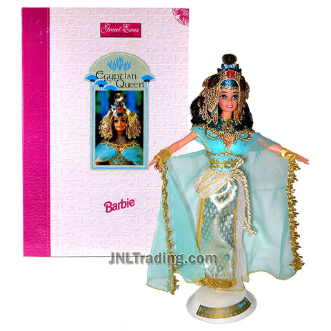 Year 1993 Barbie Collector Edition The Great Eras Collection - Volume Three Series 12 Inch Doll Set - Egyptian Queen with Headdress, Jeweled Collar, Dress with Cape, Sandals and Doll Stand