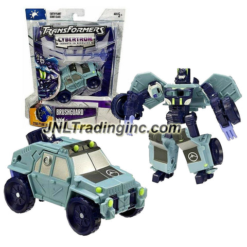 Hasbro Year 2005 Transformers Cybertron Series Scout Class 4 Inch Tall Robot Action Figure - Decepticon BRUSHGUARD with Chest Burst Missile Launcher, 1 Missile and Earth Planet Cyber Key (Vehicle Mode: SUV)