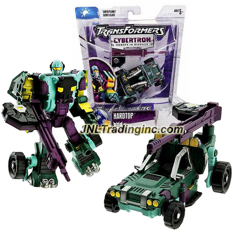 Hasbro Year 2005 Transformers Cybertron Series Scout Class 4 Inch Tall Robot Action Figure - Decepticon HARDTOP with Sniper Rifle and Earth Planet Cyber Key (Vehicle Mode: All Terrain Vehicle ATV)