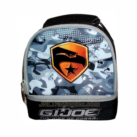 "Zak! GI JOE Movie Series The Rise of Cobra Soft Insulated 2 Compartments Lunch Bag/Box with Eagle Head Image (Dimension : 8.5"" x 8"" x 4"")"
