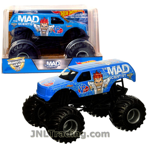 Hot Wheels Year 2017 Monster Jam 1:24 Scale Die Cast Metal Body Official Truck - THE MAD SCIENTIST DJX01 with Monster Tires, Working Suspension and 4 Wheel Steering