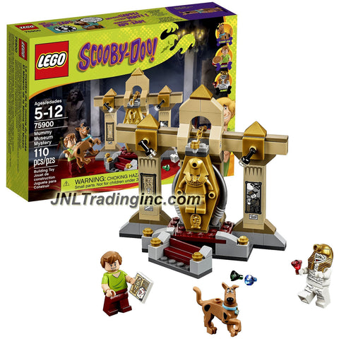 Lego Year 2015 Scooby-Doo! Series Set # 75900 - MUMMY MUSEUM MYSTERY with Golden Sarcophagus Plus Shaggy, Mummy and Scooby-Doo Minifigures (Total Pieces: 110)