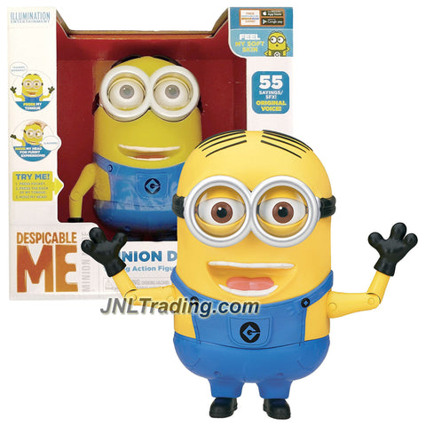 Thinkway Toys Illumination Entertainment Despicable Me 8 Inch Tall Electronic Figure - MINION DAVE with Soft Skin and 55 Sayings/SFX