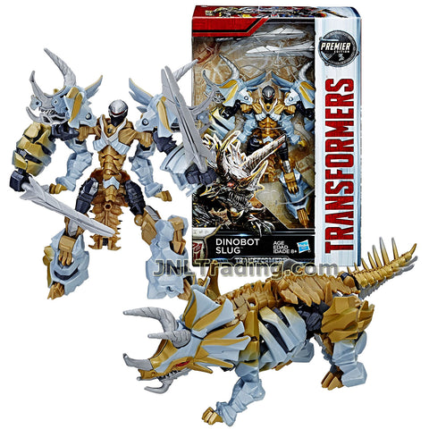 Transformers Year 2016 The Last Knight Movie Premier Edition Series Deluxe Class 5-1/2 Inch Tall Figure - DINOBOT SLUG with 2 Swords (Beast: Triceratop)
