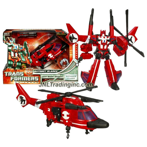 Hasbro Year 2008 Transformers Universe Classic Series Voyager Class 7 Inch Tall Robot Action Figure - Autobot BLADES with Working Winch and Spinning Quick Blades (Vehicle Mode: Helicopter)