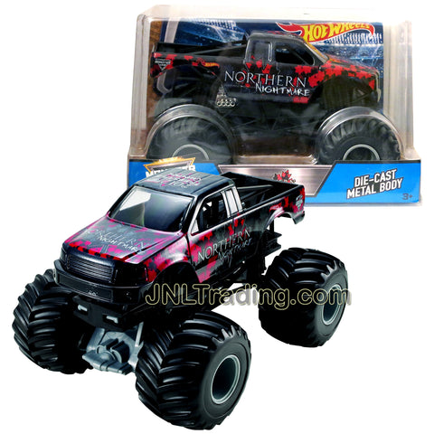 Hot Wheels Year 2017 Monster Jam 1:24 Scale Die Cast Metal Body Official Monster Truck Series - NORTHERN NIGHTMARE CCB23 with Monster Tires, Working Suspension and 4 Wheel Steering