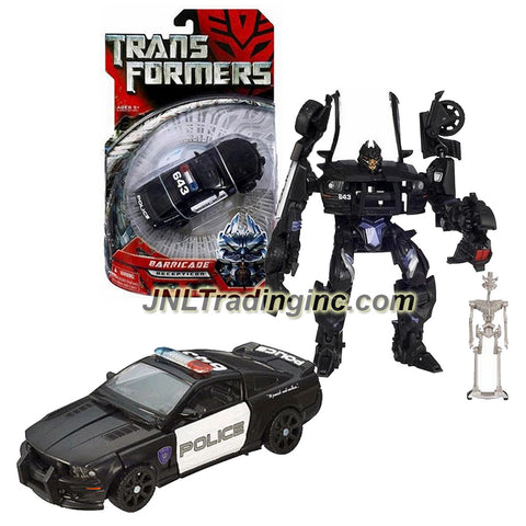 Hasbro Year 2006 Transformers Movie Series Deluxe Class 6 Inch Tall Robot Action Figure - Decepticon BARRICADE with Spring Loaded Punch Attack and Decepticon Frenzy Mini Figure (Vehicle Mode: Saleen S281 Police Car)