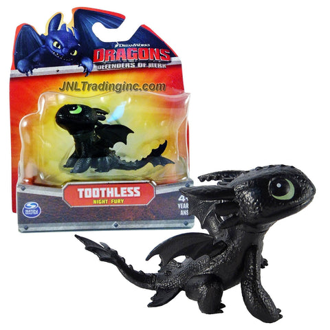 "Spin Master Year 2013 Dreamworks Movie Series ""DRAGONS - Defenders of Berk"" 3 Inch Long Dragon Figure - Night Fury TOOTHLESS"