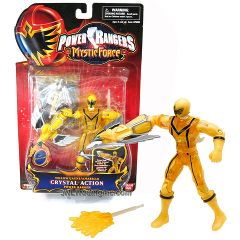 Bandai Year 2006 Power Rangers Mystic Force Series 5-1/2 Inch Tall Action Figure - CRYSTAL ACTION YELLOW POWER RANGER with Crossbow Missile Launcher, 2 Missiles and Special Card