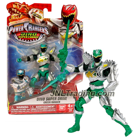 Bandai Year 2015 Saban's Power Rangers Dino Super Charge Series 5 Inch Tall Action Figure - Dino Super Drive GREEN RANGER with Sword
