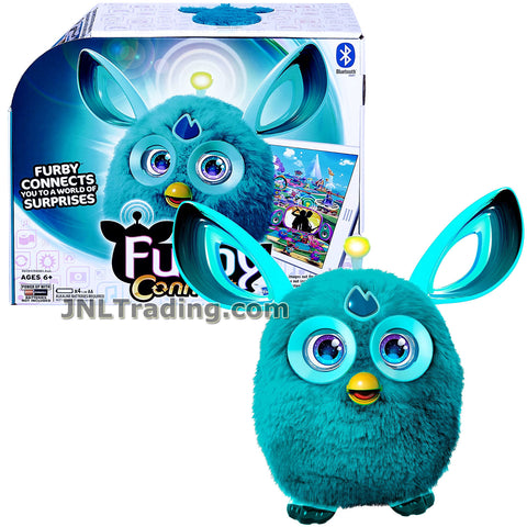 Furby Year 2016 Connect Series 6 Inch Tall Electronic App Plush Toy Figure - TEAL Color FURBY with Light-Up Antenna