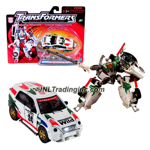"Hasbro Year 2001 Transformers ""Robots In Disguise"" Series 6 Inch Tall Robot Action Figure : Autobot Strong-Armed Fighter X-BRAWN with 2 Grille Blades (Vehicle Mode: Cybertron Wild #24 Sport Utility Vehicle SUV)"