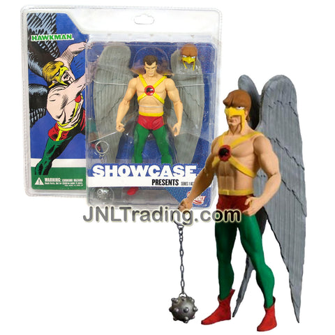 DC Direct Year 2008 Series 1 Showcase 7 Inch Tall Action Figure - HAWKMAN with Chain Mace, Hawk Mask and Display Base