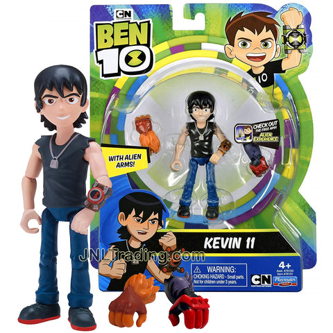 Year 2018 Cartoon Network Ben Tennyson 10 Series 4 Inch Tall Figure - Kevin 11 with Alien Arms