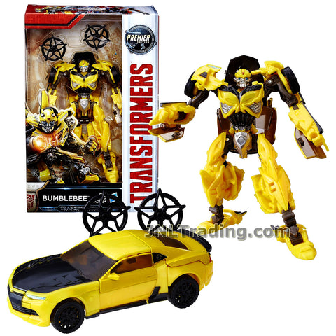 Transformers Year 2016 The Last Knight Movie Premier Edition Series Deluxe Class 5-1/2 Inch Tall Figure - BUMBLEBEE with 2 Star Circles (Vehicle: Chevy Camaro)