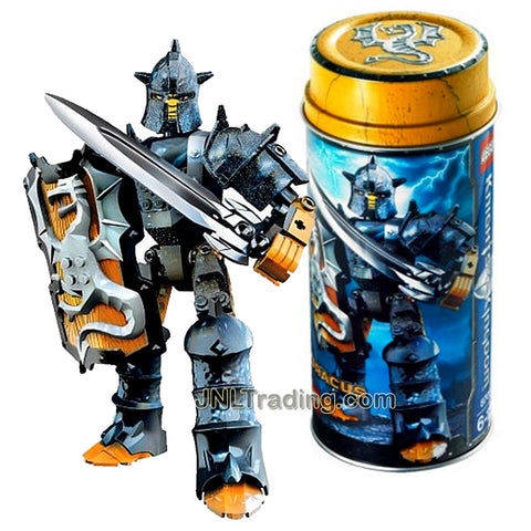 Lego Year 2006 Knights Kingdom Series Knight Figure Set # 8705 - Rogue Knight of the Dragon DRACUS with Shield and Dragon Sword Plus Collectible Metal Can (Pieces: 38)