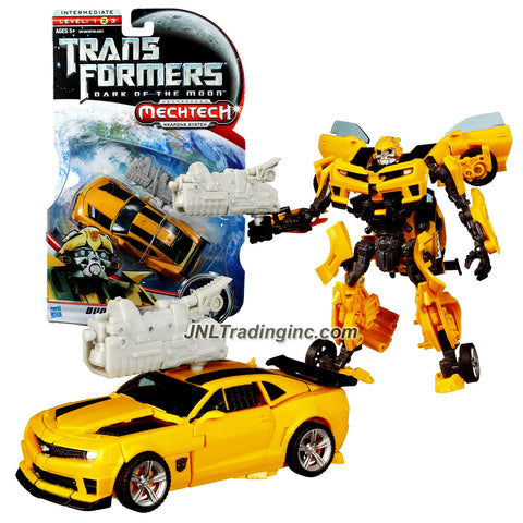 "Hasbro Year 2010 Transformers Movie Series 3 ""Dark of the Moon"" Deluxe Class 6 Inch Tall Robot Action Figure with MechTech Weapon System - Autobot BUMBLEBEE with Blaster that Convert to Plasma Cannon (Vehicle Mode: Camaro Concept)"