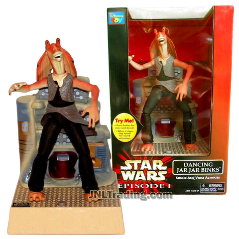 Star Wars Year 1999 Episode 1 The Phantom Menace Series 12 Inch Tall Electronic Figure Set - DANCING JAR JAR BINKS with Sound and Voice Activated Dancing Feature