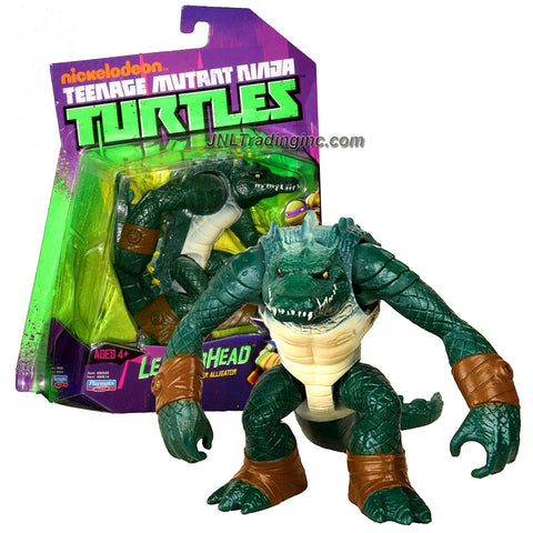 Playmates Year 2012 Nickelodeon Teenage Mutant Ninja Turtles 5 Inch Tall Action Figure - Giant Mutant Sewer Alligator LEATHERHEAD with Removable Tail