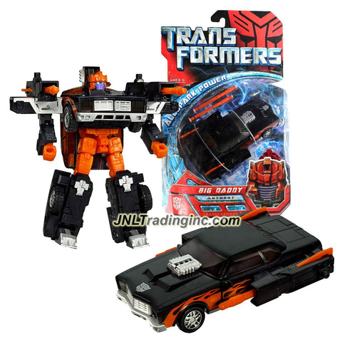 Transformers Year 2007 All Spark Power Series 6 Inch Tall Figure - Autobot BIG DADDY with Twin Blasters and Activator Key (Vehicle: Muscle Car)