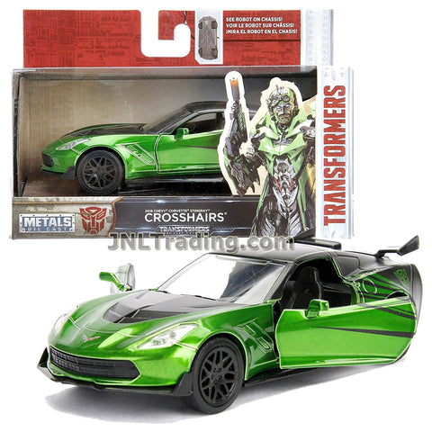 Jada Year 2017 Transformers The Last Knight Series 1:32 Scale Die Cast Metal Cars - CROSSHAIRS (2016 Chevy Corvette Stingray) with Opening Doors