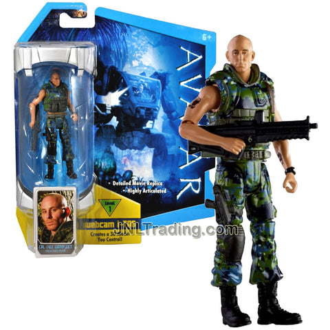 Year 2009 James Cameron's Avatar Highly Articulated Detailed 4 Inch Tall Movie Replica Action Figure - Mercenary Cpl. Lyle Wainfleet with Assault Rifle and Level 1 Webcam i-Tag