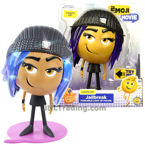 Just Play Year 2017 The Emoji Movie Series 8 Inch Tall Poseable Light Up  Figure - JAILBREAK the Rebel Emoji with Light Up Hair