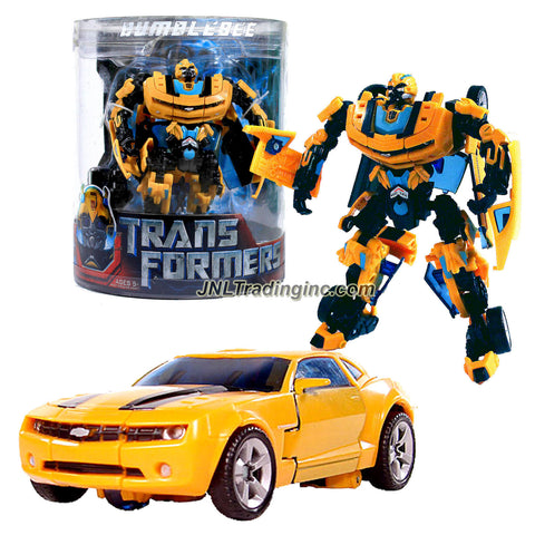 Hasbro Year 2007 Transformers Movie Series 1 Exclusive Canister Deluxe Class 6 Inch Tall Robot Action Figure - Autobot BUMBLEBEE with Cannon that Converts to Blade (Vehicle Mode: Camaro Concept)