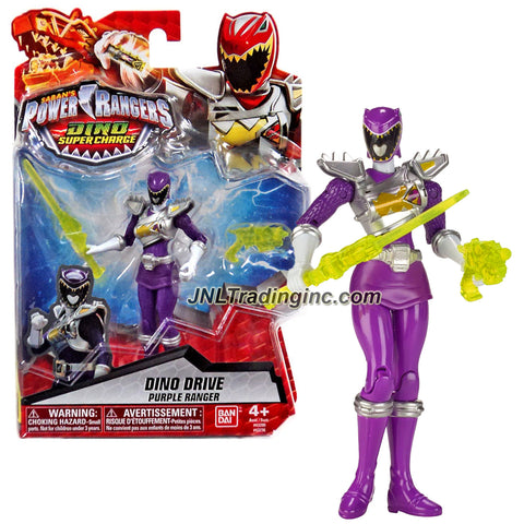 Bandai Year 2016 Saban's Power Rangers Dino Super Charge Series 5 Inch Tall Action Figure - Dino Drive PURPLE RANGER with Blaster and Sword