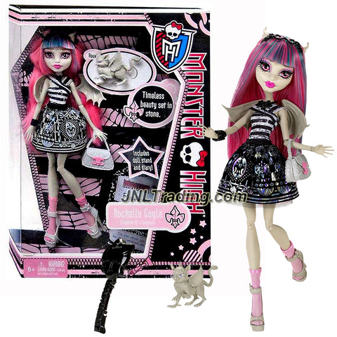 "Mattel Year 2011 Monster High Diary Series 11 Inch Doll - Rochelle Goyle ""Daughter of a Gargoyle"" with Purse, Pet ""Roux"" the Gargoyle Griffin, Hairbrush, Diary and Doll Stand (X3650)"