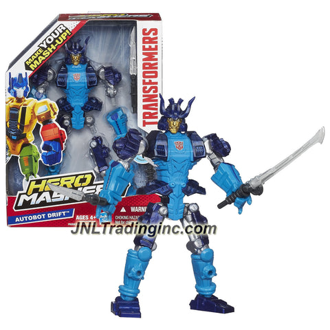 Hasbro Year 2013 Transformers Hero Mashers Series 6 Inch Tall Action Figure - AUTOBOT DRIFT with Detachable Hands and Legs Plus Tanto and Katana Swords