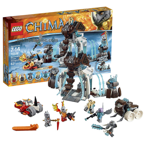 Lego Year 2015 Legends of Chima Series Battle Scene Set # 70226 - MAMMOTH'S FROZEN STRONGHOLD with Mammoth Tusk Flipper, Rogon's Rhino Roller and Rinona, Maula, Mottrot, Vardy & Rogon Figure (# of Piece: 621)