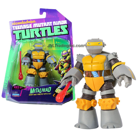 Playmates Year 2012 Nickelodeon Teenage Mutant Ninja Turtles 5 Inch Tall Action Figure - Sewer Built Robotic Turtle Ally METALHEAD with Missile Launching Hand and 1 Missile