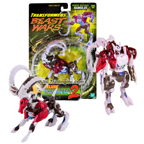 "Hasbro Transformers Beast Wars ""Transmetals 2"" Series Deluxe Class 6"" Tall Figure - Heroic Maximal Scout, Survivalist RAMULUS (Beast Mode: Ram)"